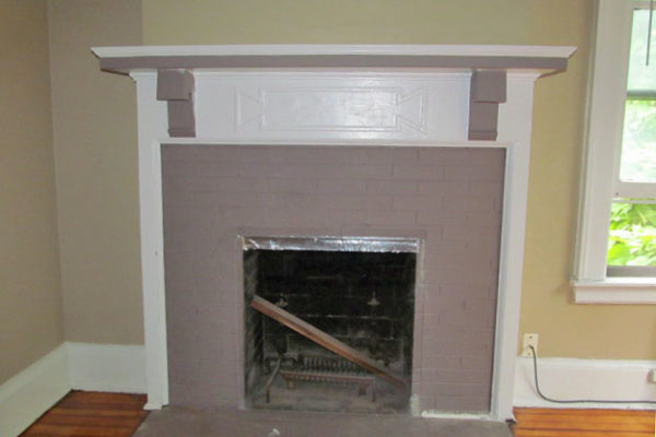 514 Unit 6 Fireplace